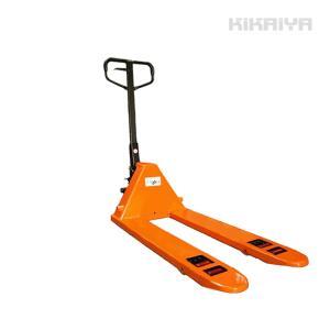 ハンドパレット2000kg 低床ダブルローラー(ワイドロング) フォーク長さ1220mm フォーク全幅685mm ハンドリフト 6ヶ月保証(個人宅配達不可) KIKAIYA|kikaiya-work-shop
