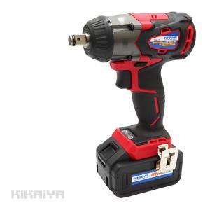 電動インパクトレンチ 充電式 1/2DR(12.7mm)350Nm 18V コードレス ブラシレスモーター 「すご楽」6ヶ月保証 (ソケットプレゼント)KIKAIYA kikaiya-work-shop