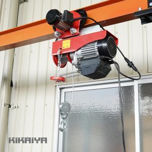 電動ホイスト トロリー セット 500kg ワイヤレスリモコン式 電動ウインチ 電動トロリー 無線リモコン 一体型 ウィンチ 家庭用 100V 「すご楽」 KIKAIYA kikaiya-work-shop