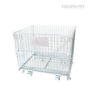 メッシュパレット中 ブレーキ キャスター付 10個セット 幅1040×奥行820×高さ910mm 網パレット 網カゴ 1000kg パレティーナ(個人様は営業所止め) KIKAIYA|kikaiya-work-shop