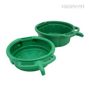 オイルドレンパン オイルパン オイル受け 排油処理 2個セット オイル交換 クーラント交換 プラスチック製 KIKAIYA|kikaiya-work-shop