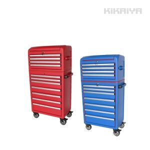 ローラーキャビネット チェスト&キャビネット7段セット 艶なし マットタイプ 工具箱 ツールキャビネット(個人様は営業所止め) KIKAIYA|kikaiya-work-shop