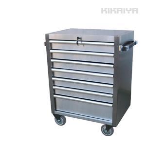 ロールキャビネット ステンレスキャビネット7段 ツールボックス 工具箱 ツールキャビネット(個人様は営業所止め) KIKAIYA|kikaiya-work-shop