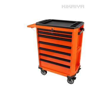 ローラーキャビネット7段 (サイドテーブル付)ロールキャビネット ツールボックス  ツールボックス 工具箱 (個人様は営業所止め) KIKAIYA|kikaiya-work-shop