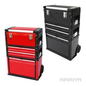 ツールボックスキャリー3段 工具箱 キャビネット ハンドツール ツールステーション 移動型ツールボックス トロリー トローリー KIKAIYA|kikaiya-work-shop