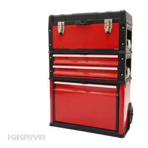 ツールボックスキャリー 3段 ツールチェスト キャスター付き キャビネット ハンドツール ツールステーション 移動型(個人様は送料別途/商品代引不可) KIKAIYA|kikaiya-work-shop