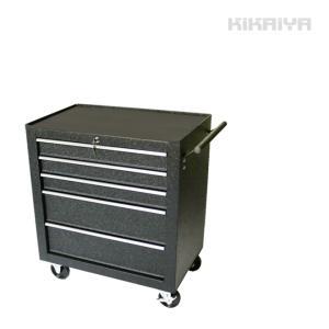 ローラーキャビネット5段 リンクル塗装 ロールキャビネット ツールボックス 工具箱 ツールキャビネット(個人様は営業所止め) KIKAIYA|kikaiya-work-shop