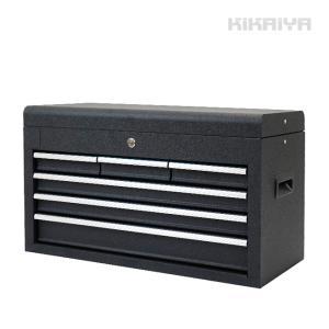 ツールチェスト4段(単色) リンクル塗装 トップチェスト ツールキャビネット 工具箱 KIKAIYA|kikaiya-work-shop