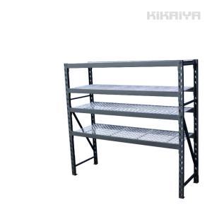 スチールラック4段 ボルトレス 中量棚 メタルラック 耐荷重400kg×4段/計1600kg 幅1960×奥行615×高さ1830mm(個人様は営業所止め)KIKAIYA|kikaiya-work-shop