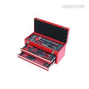 工具セット 84pcs 工具箱 ツールセット DIY工具 日曜大工 整備工具セット ツールチェスト  KIKAIYA|kikaiya-work-shop