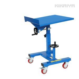 作業台 昇降傾斜テーブル 昇降スタンド 傾斜スタンド キャスター付き ネジ式 リフトテーブル(個人様は営業所止め) KIKAIYA|kikaiya-work-shop
