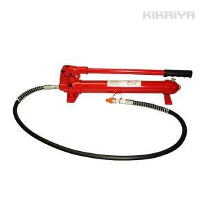 手動式油圧ポンプ(小) 油圧ホース付き KIKAIYA|kikaiya-work-shop