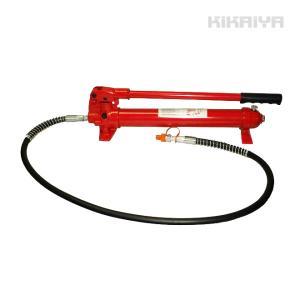 手動式油圧ポンプ(中) 油圧ホース付き KIKAIYA|kikaiya-work-shop