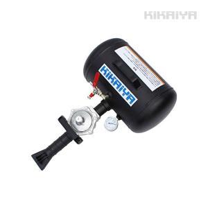 ビードブースター 18L 軽量アルミタンク(黒) エアービードシーター プッシュボタンバルブ開放式【 送料無料 】|kikaiya
