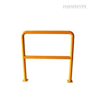 パイプガード横型1000mm 車止めポール バリカー ガードパイプ(法人様のみ配送可)(代引不可) KIKAIYA|kikaiya