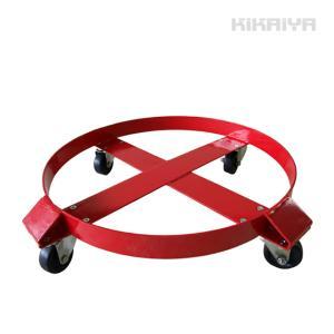 ドラム缶キャリー ドラム缶ドーリー(ワイド)  最大荷重300kg ドラムキャリー 円形台車|kikaiya
