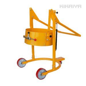 ドラム缶運搬車 反転機能付 ドラムチルト スチールドラム・ポリドラム兼用 ドラムポーター ドラムキャリー(法人様のみ配送可) kikaiya