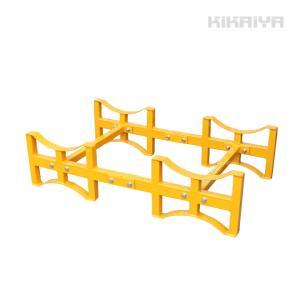 ドラム缶ラック ドラムスタンド ドラム缶横積み kikaiya