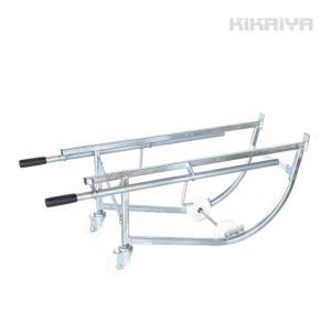 ドラム缶キャリー ドラム缶運搬車 ドラムスタンド ドラムポーター(シルバー)S型 (法人様のみ配送可)(代引不可) kikaiya