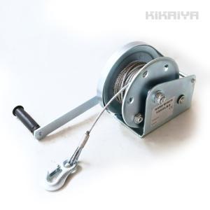 KIKAIYA ハンドウインチ オートブレーキ付 ワイヤー10m(大) 牽引能力820kg 手動ウインチ 回転式ミニウインチ 6ヶ月保証|kikaiya
