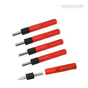 バルブドライバ5個 大型/小型兼用(代引不可) kikaiya