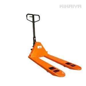 KIKAIYA ハンドパレット2000kg低床ダブルローラー フォーク長さ1100mm フォーク全幅550mm 高さ60mm ハンドリフト 6ヶ月保証(個人宅配達不可) kikaiya