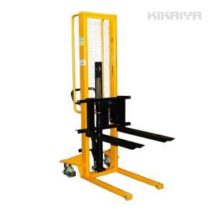 ハンドフォークリフト500 kg 1600mm スタッカー 6ヶ月保証(西濃運輸営業所止め)|kikaiya