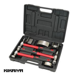 板金ハンマーセット7pcs 板金金属加工セット ハンマー&ドーリーセット KIKAIYA|kikaiya