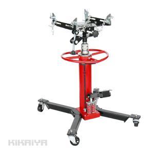 ・足踏みペダルポンプで上昇、下降レバー操作で自然降下 ・油圧シリンダーは2段式とする事で905mmの...