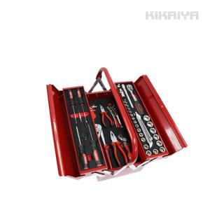 ・一般的によく使われる工具をそろえたセットです ・整備や出張作業、家庭常備など様々な作業にもお使いい...