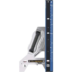 シンワ測定 丸のこガイド定規エルアングルアジャスト(77371) 600mm(60cm)併用目盛|kikaiyasan