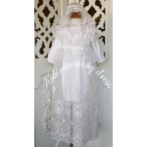 退院、お宮参り、少しおめかししたい時にkikiのセレモニードレスは、いかがですか。 裾いっぱいに広が...