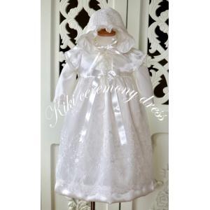 退院、お宮参り、少しおめかししたい時にkikiのセレモニードレスはいかがですか。 オーバードレスは光...