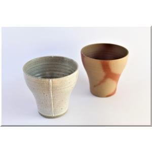 ビールグラス 陶器 誕生日 母の日 父の日 敬老の日 備前焼ショートグラス×マグネショートグラス( 2個セット) プレゼント 贈り物 ペアグラス 還暦 お祝い|kiki-kiki