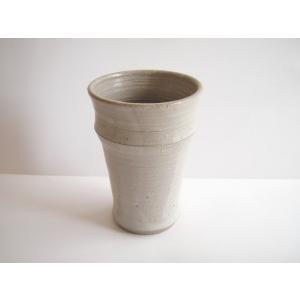 ビールグラス 陶器 誕生日 母の日 父の日 敬老の日 白いバンブーマグ プレゼント ホワイトデー 還暦 祝い|kiki-kiki
