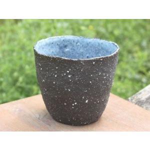 ビールグラス 陶器 誕生日 フリーカップ 母の日 父の日 敬老の日 ネオ・岩壁/GANPEKI プレゼント クリスマス 還暦 お祝い|kiki-kiki