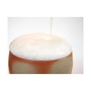 ビールグラス 陶器 誕生日 母の日 父の日 敬老の日 備前焼スリムビールグラス プレゼント ホワイトデー 還暦 お祝い|kiki-kiki|05