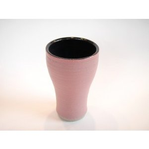 ビールグラス 陶器 誕生日 母の日 父の日 敬老の日 ローズピンクビアカップ プレゼント ホワイトデー 還暦 お祝い|kiki-kiki