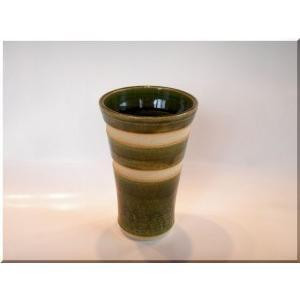 ビールグラス 陶器 誕生日 母の日 父の日 敬老の日 ORIBE2ラインビアカップ プレゼント ホワイトデー|kiki-kiki