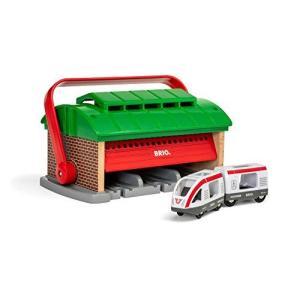 BRIO ( ブリオ ) WORLD ハンドル付列車車庫 ( 電車 おもちゃ 木製 レール ) 33474|kikilaland