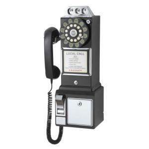 50sアメリカ公衆電話 PAY PHONE ブラック|kikilaland