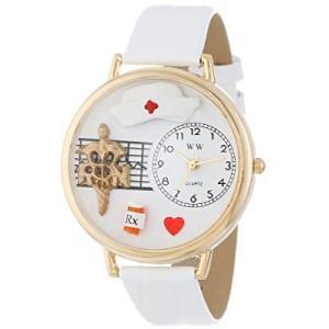 高看(看護師) 白レザー ゴールドフレーム時計 #G0620008|kikilaland