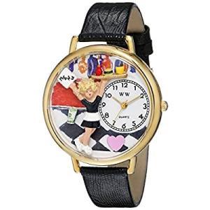 ウエイトレス 黒レザー ゴールドフレーム時計 #G0630004|kikilaland