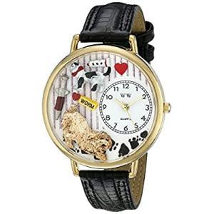 獣医師 黒パット入りレザー ゴールドフレーム時計 #G0630003|kikilaland