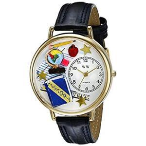 歴史の先生 紺レザー ゴールドフレーム時計 #G0640006|kikilaland