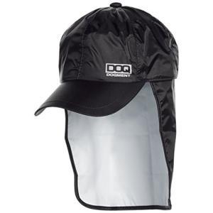[ドキュメント] 防水 雨除け布付 帽子 アジャスター付 レインキャップ メンズ ブラック F kikilaland