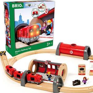 BRIO ( ブリオ ) WORLD メトロレールウェイセット [全20ピース] 対象年齢 3歳~ ( 電車 おもちゃ 木製 レール ) 33513|kikilaland