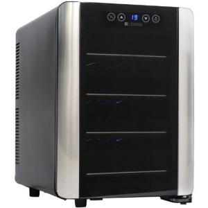 +LOUNGE 12本収納ワインセラー LNE-W2312B[ペルチェ式/UVカットガラス/加湿トレー付]|kikilaland