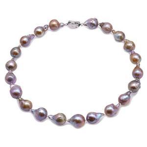 JYXパールAA +品質13〜20ミリメートルナチュラルシャンパンバロック淡水養殖真珠のネックレス18インチ|kikilaland