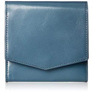 [マーガレット・ハウエル アイデア] 二つ折り財布 【インドス】 レディース ブルー kikilaland